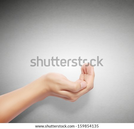 Open palm a hand gesture isolated  - stock photo