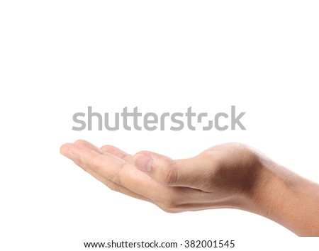 Open palm hand gesture of a hand