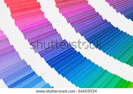 Open pantone color guide sample catalog - stock photo
