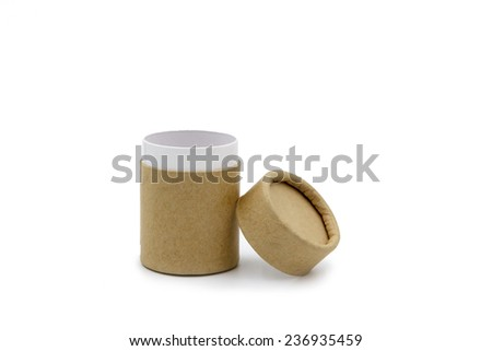 open paper tube container - stock photo