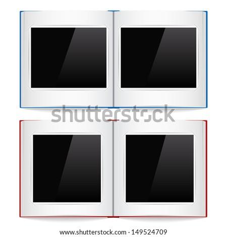 Open photo albums - stock photo