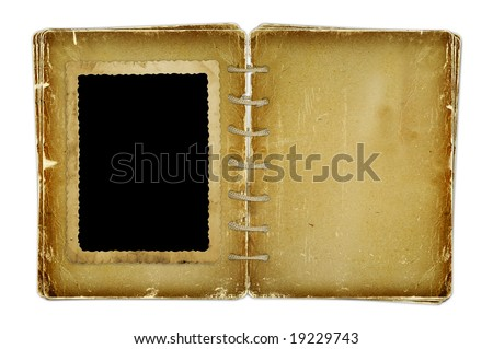 Open photoalbum for photos on the isolated white background