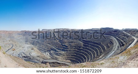 Open pit mine  - stock photo