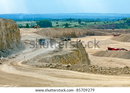 Open-pit mine - stock photo