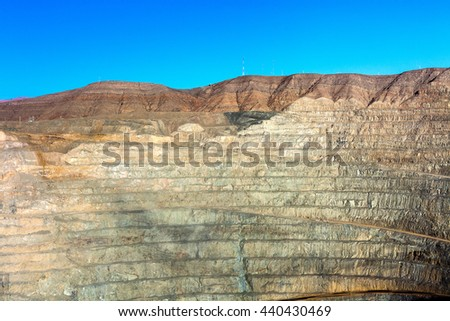 Open pit mine in northern Chile - stock photo