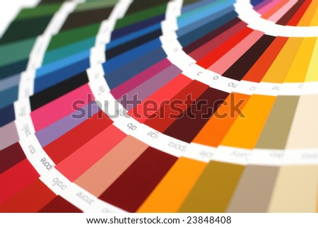 open RAL sample colors catalogue - stock photo