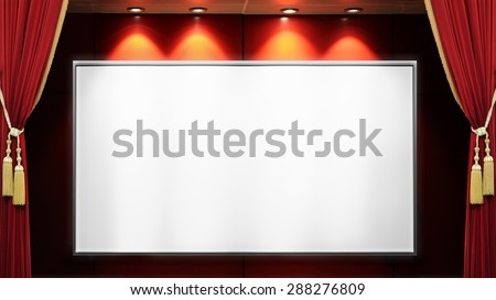 Open red curtains tied with golden red stage lights and the success which one.