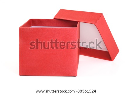 Open Red Gift Box - stock photo