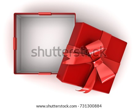 Open red gift box present box 731300884 shutterstock open red gift box or present box with red ribbon bow and empty space in the negle Gallery