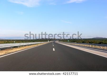 Open road in Croatia Europe - stock photo