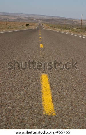 Open road in west Texas - stock photo