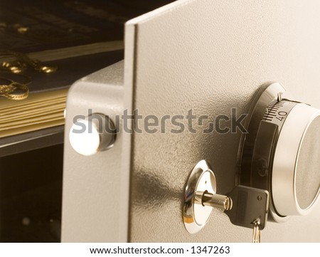 Open safe - stock photo