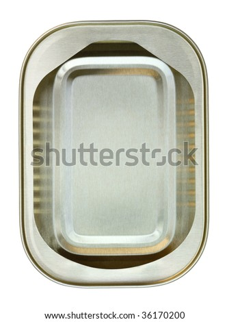 open sardine tin can - stock photo