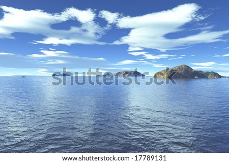 open sea and clouds