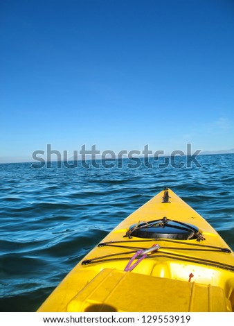 Open sea kayak. Shot in South Africa. - stock photo