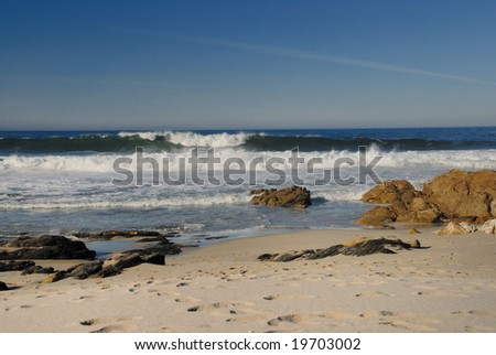 Open sea with waves - stock photo