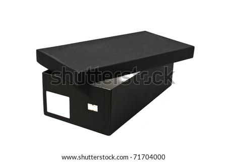 Open shoe box - stock photo