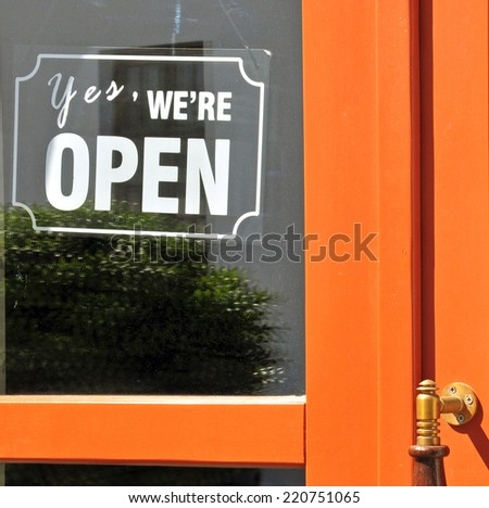 Open sign - stock photo
