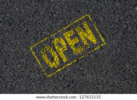 Open sign background