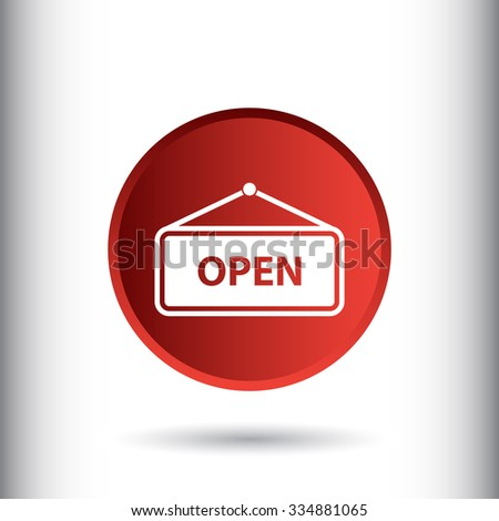 Open sign icon. Flat design style for web and mobile.