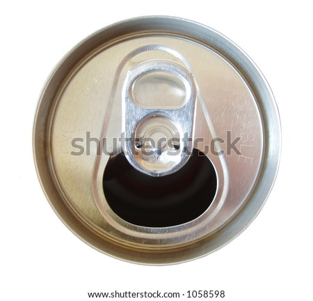 open soda can top isolated on white background - stock photo