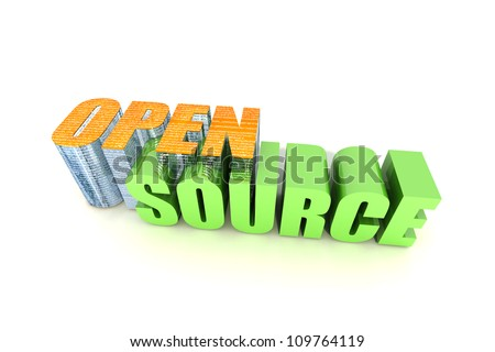 Open Source Computing - stock photo