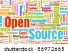 Open Source Technology Platform in a Community - stock vector