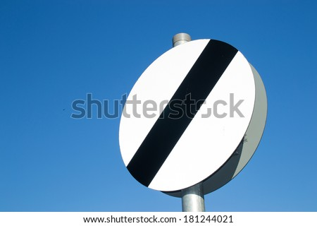 Open speed street sign. - stock photo