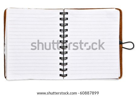 Open Spiral Notebook blank paper - stock photo