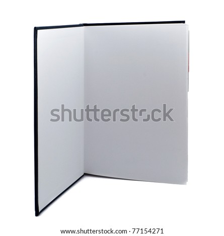 Open standing book on white background - stock photo