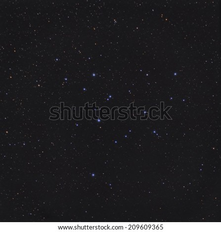 Open Star Cluster M39 in the Constellation Cygnus - stock photo