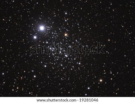 Open Star Cluster NGC457 - stock photo