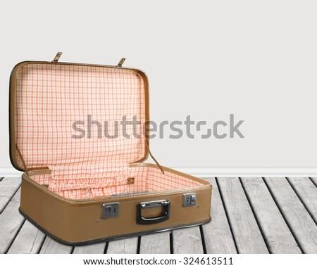 Open Suit Case Stock P...