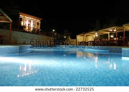 Open swimming pool - stock photo