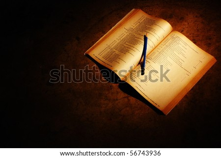 Open the book of knowledge for learning. - stock photo