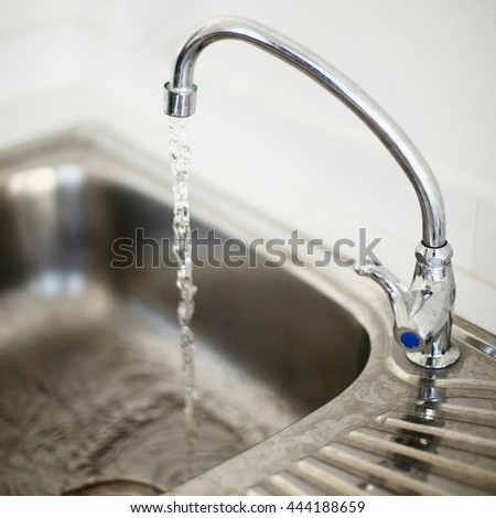 open the hydrant of sink to use water in the kitchen