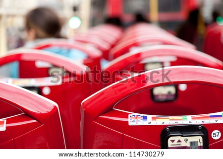 Open top bus for tourists - stock photo