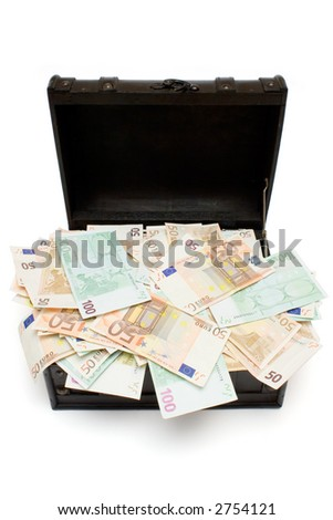 Open Treasure Chest - stock photo