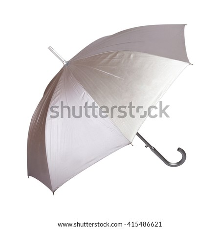 open umbrella. isolated on white background - stock photo