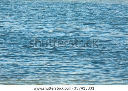 Open water surface of the sea - stock photo
