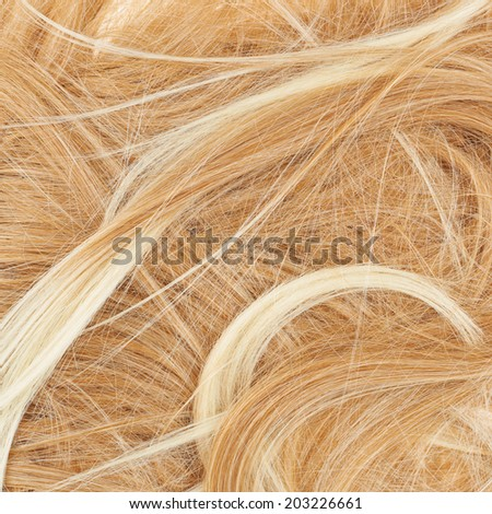 Open wave hair fragment as a texture background composition