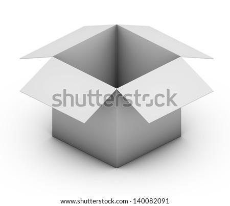 Open White Box - stock photo