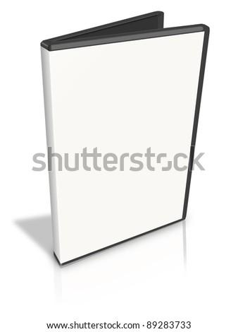 Open White DVD Case on white - stock photo