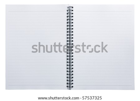 Open white notebook - stock photo