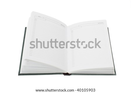 open white notebook isolated