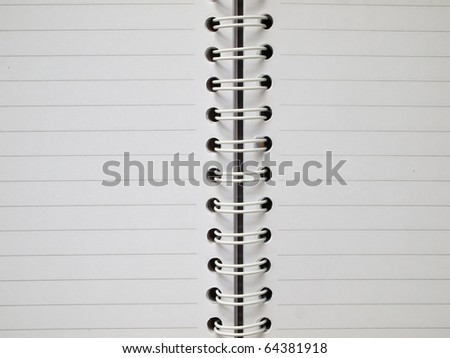 open White two page notebook with line