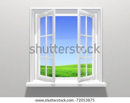 Open window - stock photo