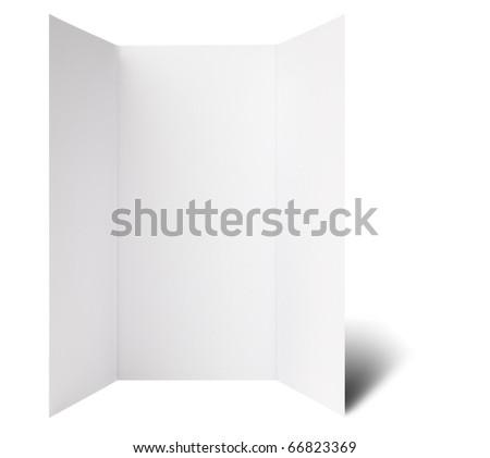 Open window fold flyer - stock photo