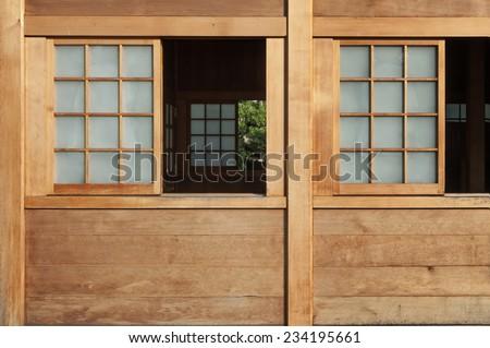 Open window in Japanese style  - stock photo