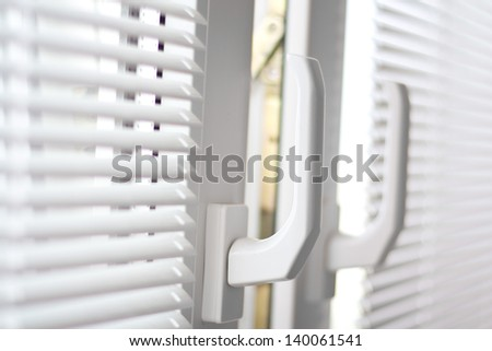 open windows with blinds